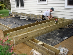 Starting to Lay the 2x10 Joists