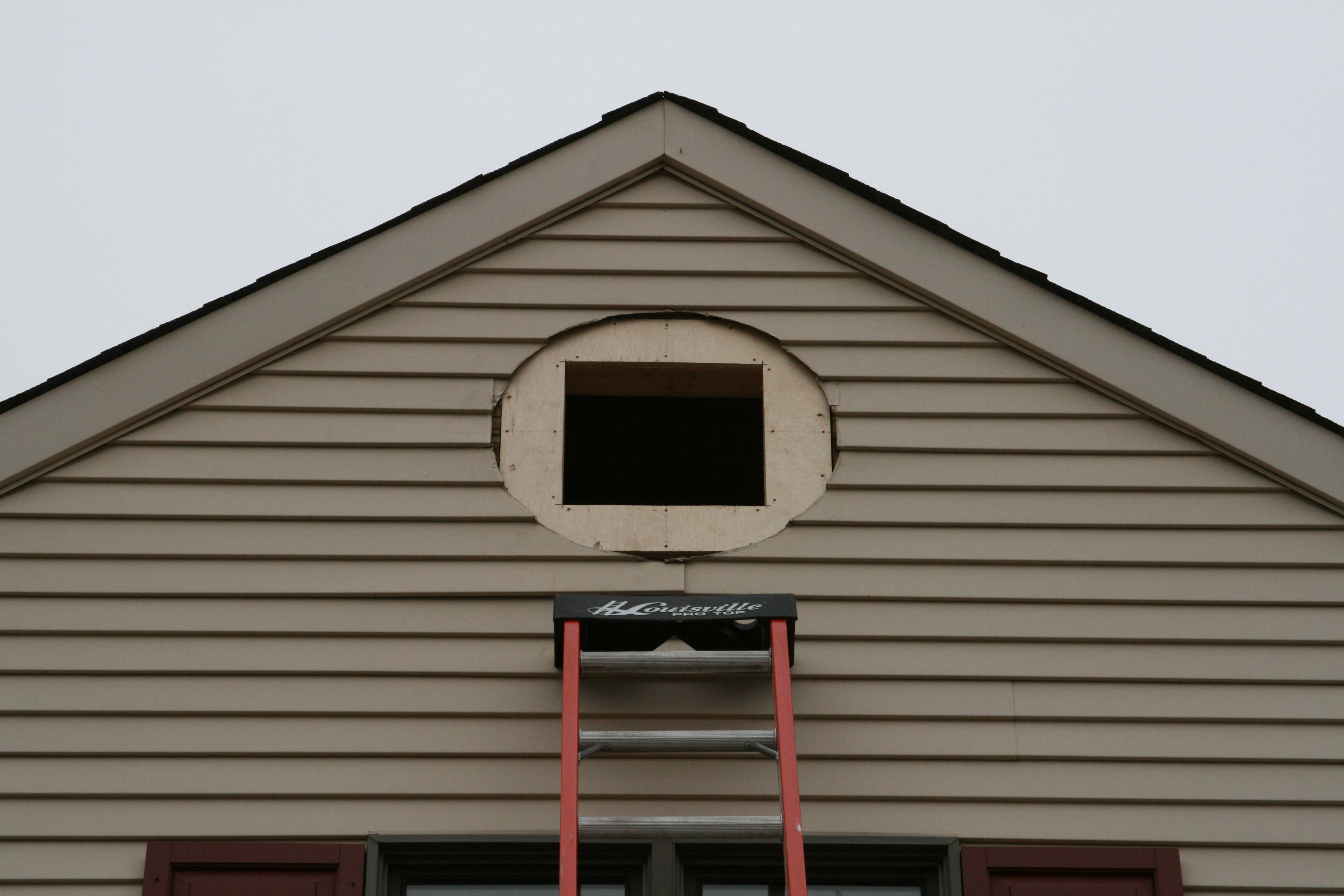 Gable Roof Installation : Gable vent installation west chester pa aaron