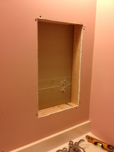Needed to remove a stud from this location and do some light reframing.