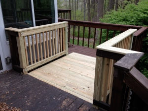 Needed to match up the handrail with the original from the deck landing.