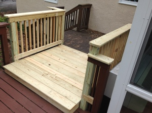 Matching up the deck landing with the original deck.