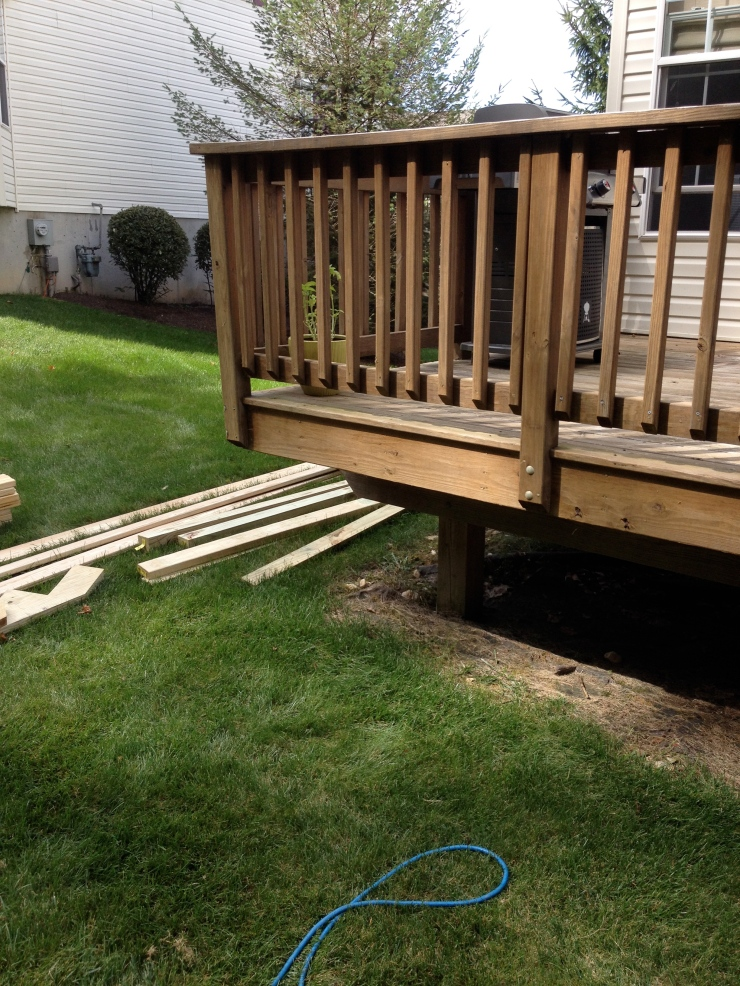 This is the corner of the deck that suited my client's needs best when determine the location of the steps.